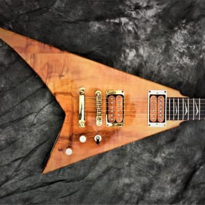 BLOWOUT!NAMM2020 SALE! RRV Randy Rhoads Custom FlyingV Tribute Guitar Blk Diamond Lacquer Checking for sale