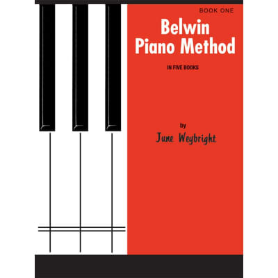 Belwin Piano Method in Five Books by June Weybright - Book 1