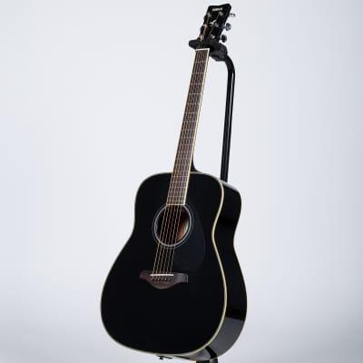 Yamaha FG-TA TransAcoustic Dreadnought Acoustic-Electric Guitar - Black for sale
