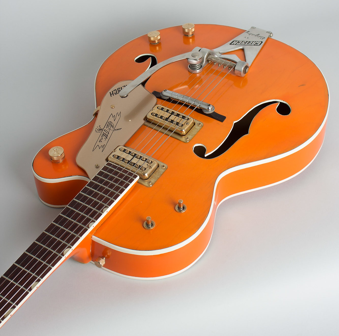 Gretsch  Model 6120 Conversion Arch Top Hollow Body Electric Guitar (1960's), ser. #40425, white tolex hard shell case.