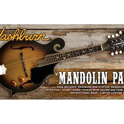 Washburn M3EK-A Americana Series F-Style Mandolin Pack, Sunburst