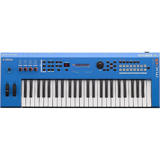 Yamaha mx49 49 key synth usb midi controller keyboard blue for Yamaha midi controller keyboard