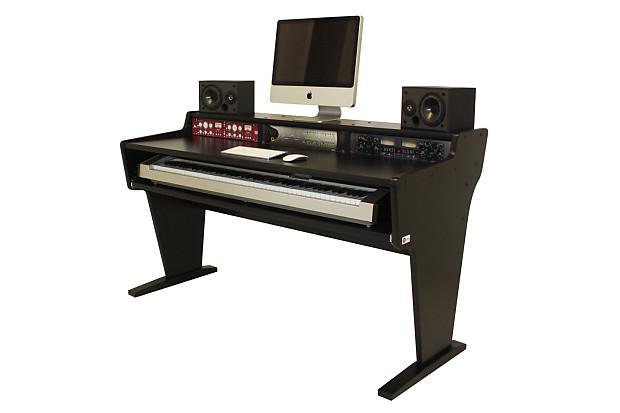 Bazel Studio Desk Spike 88 Workstation Desk Black