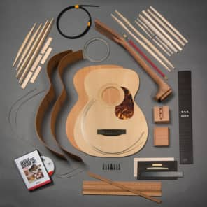 StewMac OM Acoustic Guitar Kit, Dovetail Neck, Torrefied Top, Mahogany Back & Sides for sale