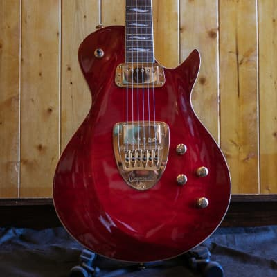 Carparelli Pacifico SV Electric Guitar - Red Burst Flame *Showroom Condition. for sale
