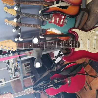 Fender USA 1994  Strat Deluxe Plus Crimson Burst w case for sale