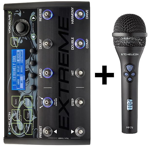 tc helicon voicelive 3 extreme w mp 76 microphone reverb. Black Bedroom Furniture Sets. Home Design Ideas