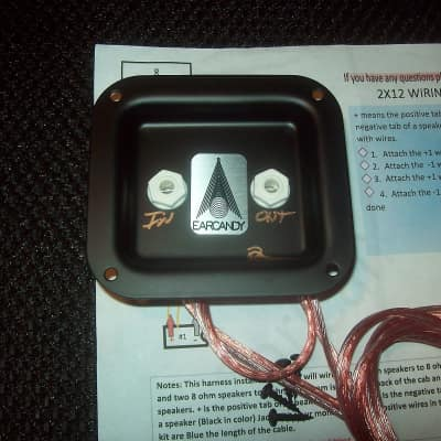 earcandy in parts reverb earcandy 2x12 guitar speaker cab parallel wiring harness w p out jack plate