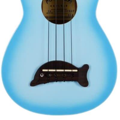 Kala MK-SD-LBBURST Makala Dolphin Soprano Ukulele - Light Blue Burst