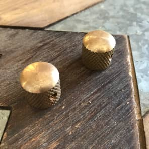 Real Life Relics 52 tele style knobs Aged Raw Brass