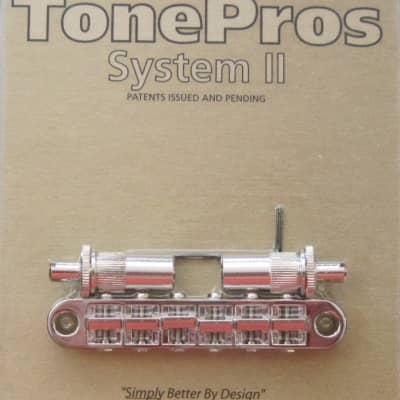 TonePros T3BT-N Metric Tuneomatic Bridge Nickel image
