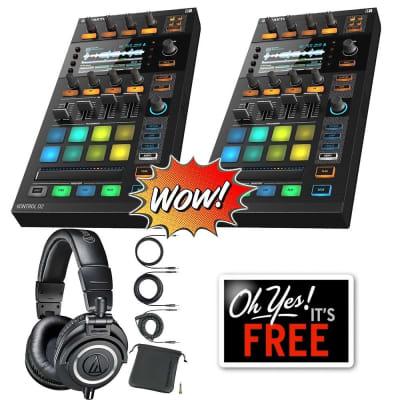 Native Instruments Traktor Kontrol D2 DJ Controller + Free Audio Technica ATH-M50x Bundle