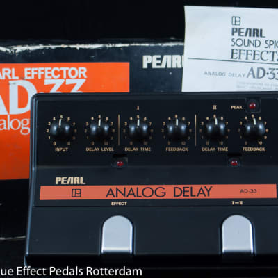 Pearl AD-33 Analog Delay early 80's Japan s/n 857007 with MN3005 BBD