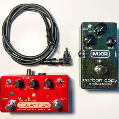 MXR M169 Carbon Copy Analog Delay Pedal + Molten Voltage Delaytion Analog Delay Controller