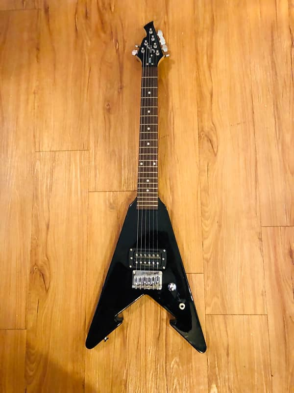 first act me279 mini flying v black electric guitar reverb. Black Bedroom Furniture Sets. Home Design Ideas