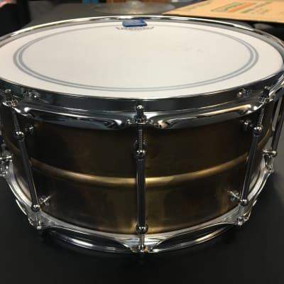 "SALE!!! Taye 6.5x14"" Metalworks Vintage Brass Snare"