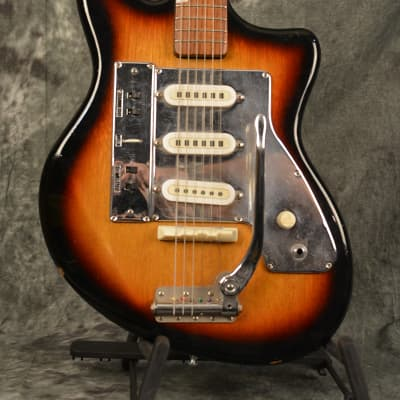 Guyatone LG-130t Triple Pickup w Tremolo 60s Sunburst w Gigbag & FAST Same Day Shipping for sale