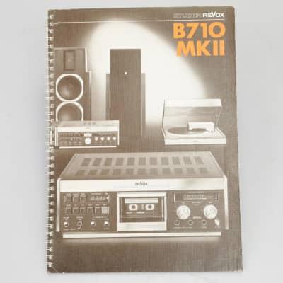 Studer Revox B710 MKII Operating Instructions Manual #39764