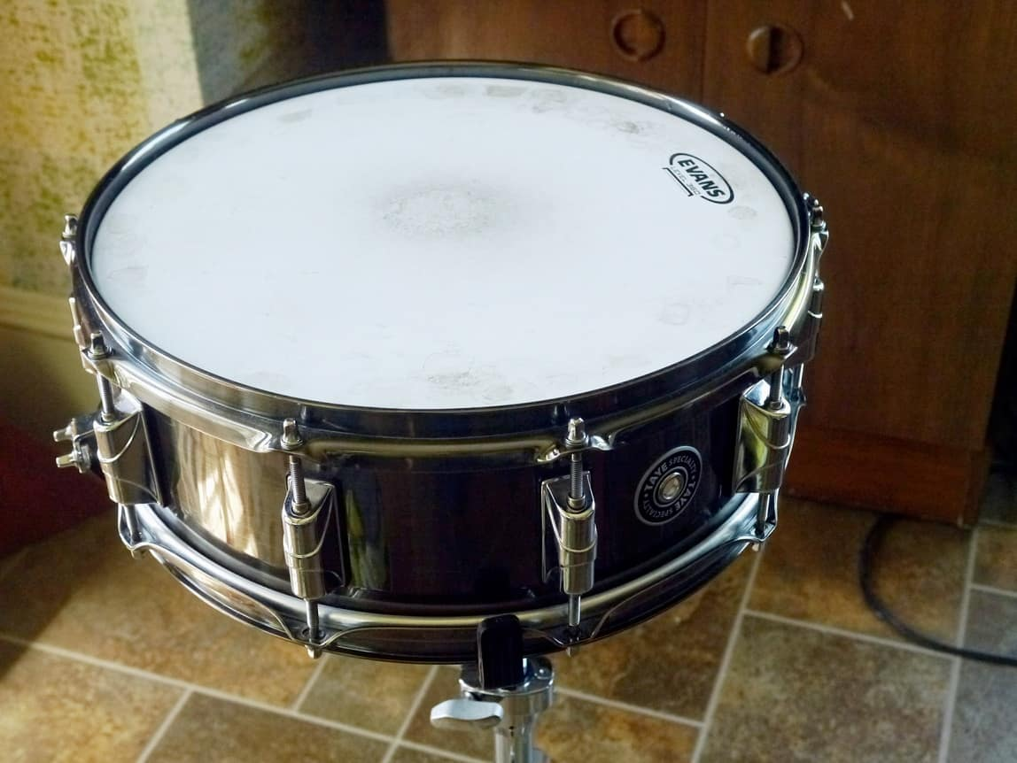 taye 14 x5 brass snare drum brushed black nickel reverb. Black Bedroom Furniture Sets. Home Design Ideas