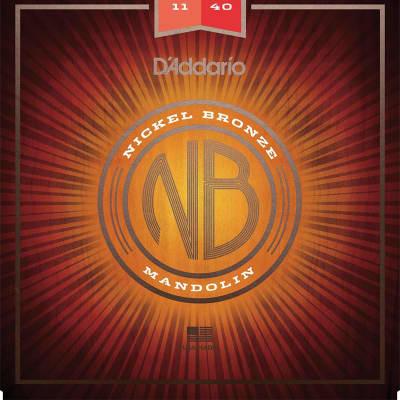 D'Addario NBM1140 Nickel Bronze Mandolin Strings - Medium (11-40)