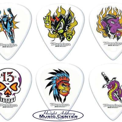 Dunlop Bl100p.60 Assorted Alan Forbes Blackline Art Guitar Picks .60mm Pack of 6