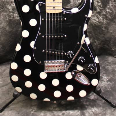 2017 Fender Buddy Guy Stratocaster Electric Guitar Black & White Polka Dots w/Gigbag for sale