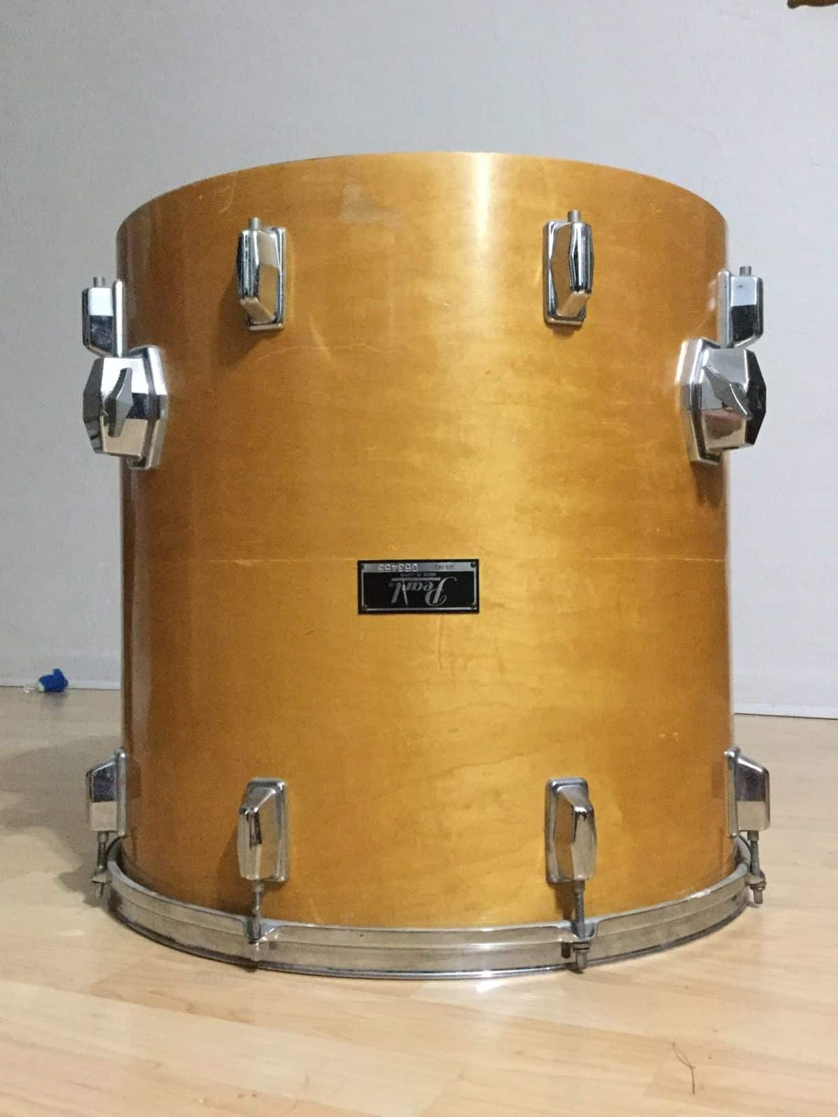 Pearl 18 x18 8 lug maple floor tom shell used reverb for 18 inch floor tom for sale