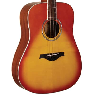 Wood Song D-HS Traditional Dreadnought Solid Sitka Spruce 6-String Acoustic Guitar - Honey Sunburst
