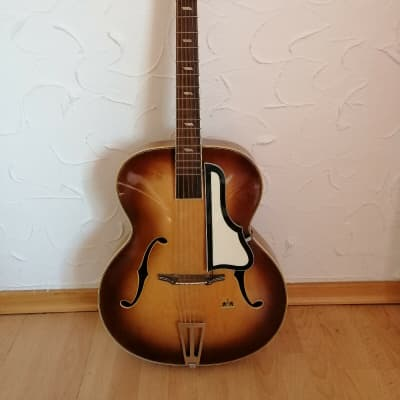 Beautiful vintage Musima Archtop guitar from  1958 honeyburst for sale