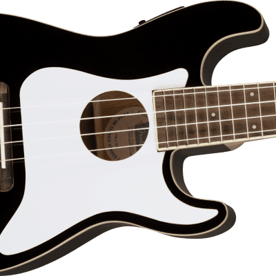 Fender Fullerton Stratocaster Ukulele Black open box display 20% OFF
