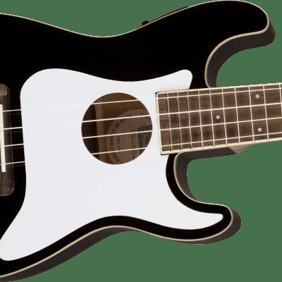 Fender Fullerton Stratocaster Ukulele Black open box display 20% OFF