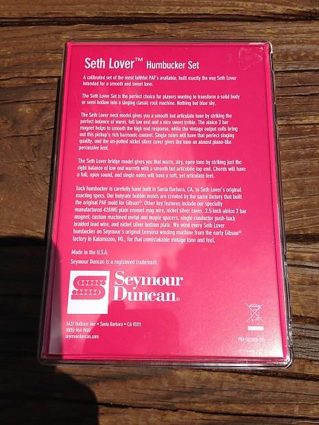 Seymour Duncan SH-55 Seth Lover Bridge & Neck Pickup Set Nickel 11108-20-Nc