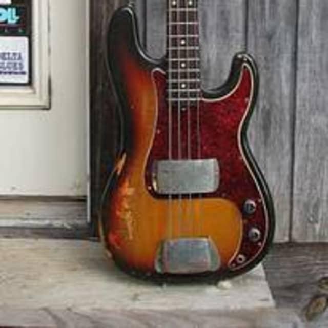"'73 Fender Bass Guitar Vintage ""Not pretty But Best Sounding"" image"