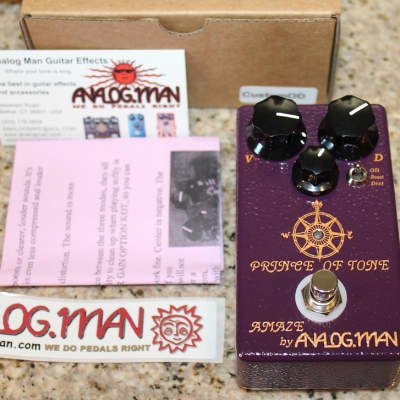 Analogman Prince of Tone Overdrive Pedal w/ box for sale