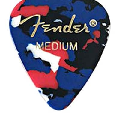 Fender 351 Classic Celluloid Guitar Picks - CONFETTI, MEDIUM - 12-Pack (1 Dozen) for sale