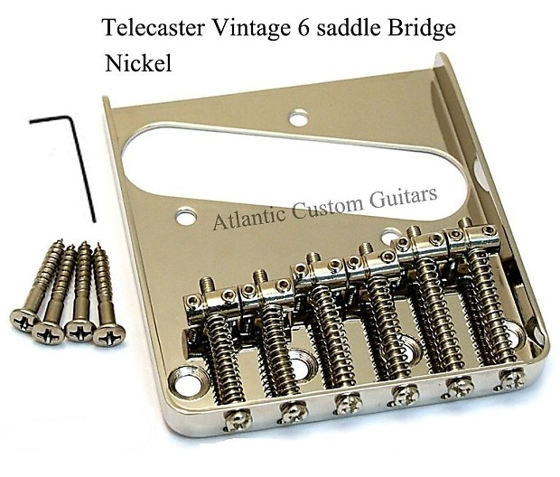 6 Replacement Vintage Saddles for Stratocaster Telecaster Guitars