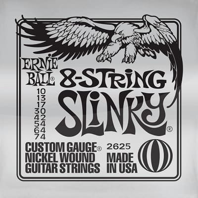 Ernie ball Slinky Nickelwound 8 String Guitar Strings 10-74 for sale
