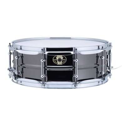 """Ludwig LW5514C Black Magic 5.5x14"""" Brass Snare Drum with Chrome Hardware"""