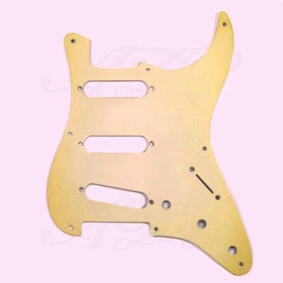 Stratocaster 57' 8 holes 1ply Aged White pickguard for sale
