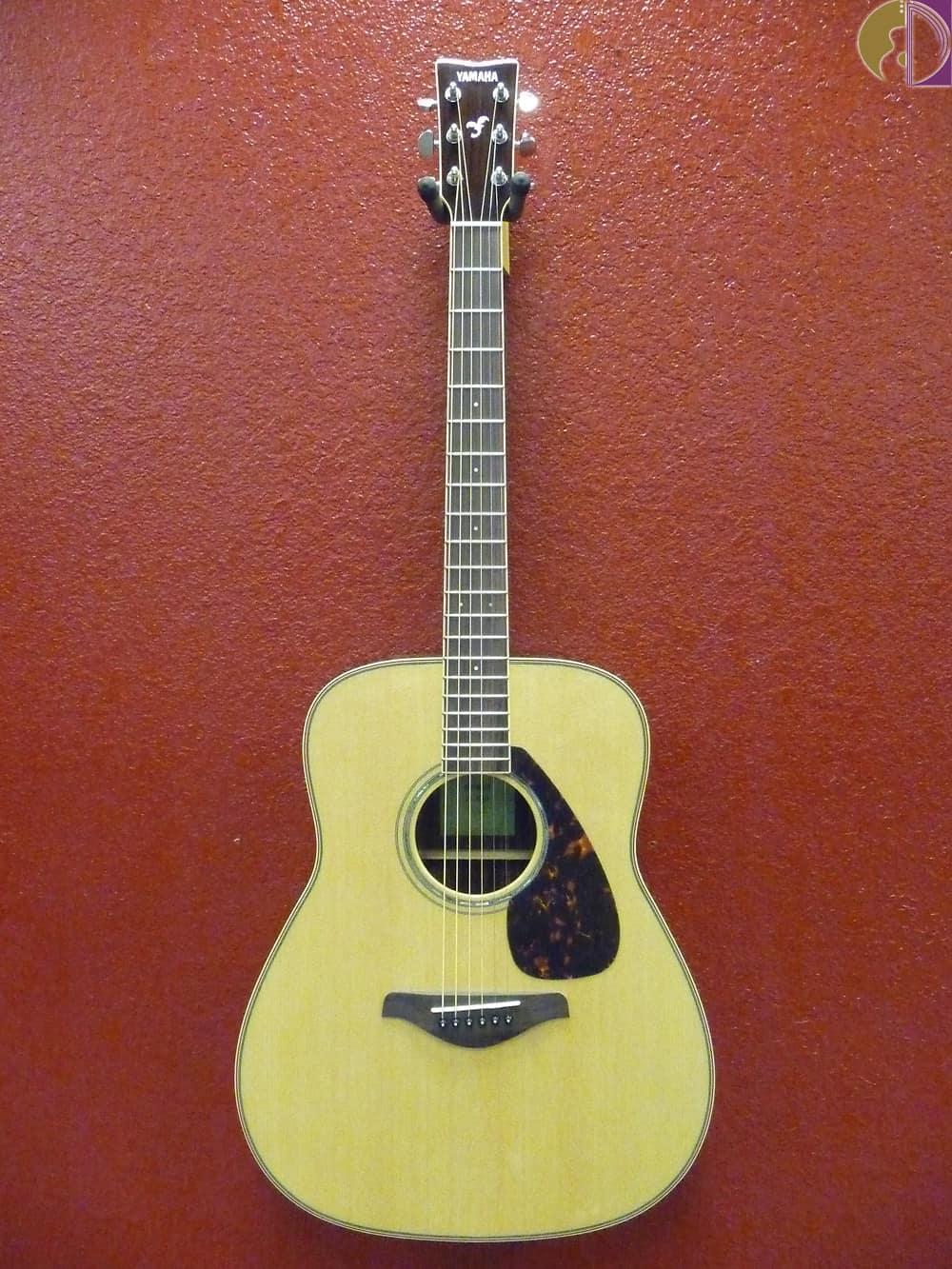 Yamaha fg830 acoustic guitar solid top natural reverb for Yamaha fg830 specs