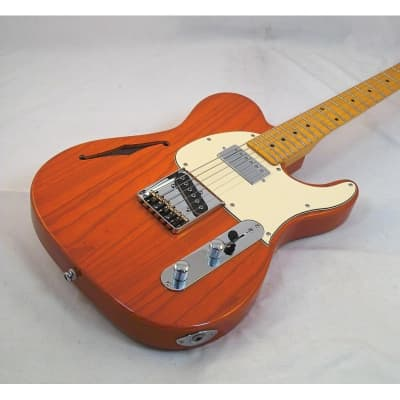 G&L Tribute ASAT Classic Bluesboy Semi Hollow Clear Orange for sale