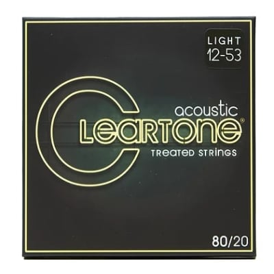 Cleartone .012-.053 LIGHT 80/20 Bronze Acoustic Guitar Strings 7612 3 PACKS