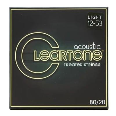 Cleartone .012-.053 LIGHT 80/20 Bronze Acoustic Guitar Strings 7612 3 PACKS
