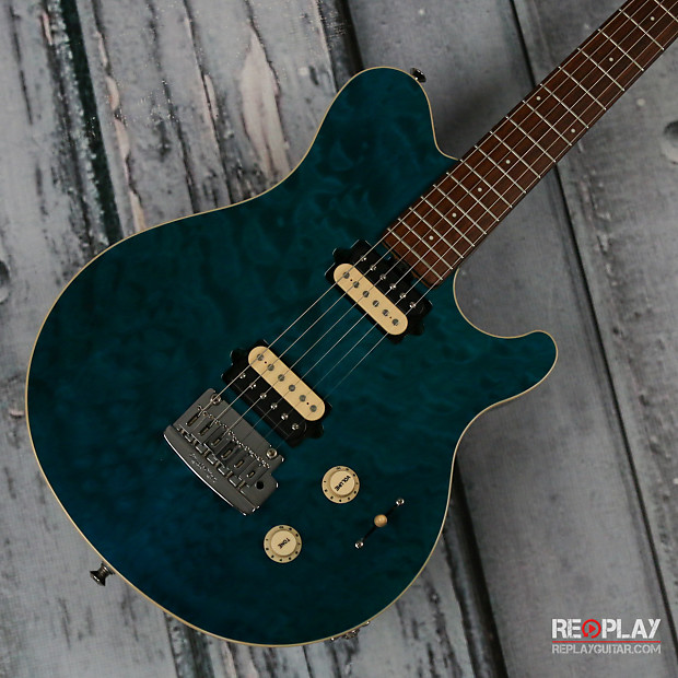 used ernie ball music man axis super sport balboa blue reverb. Black Bedroom Furniture Sets. Home Design Ideas
