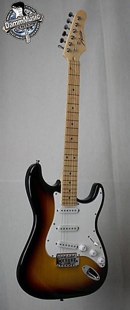 Austin Ast 100 Electric Guitar Sunburst Finish Damm
