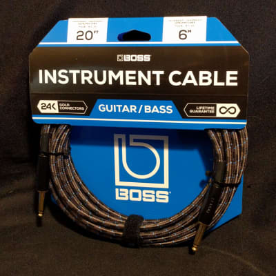 Boss BIC-20 TS Straight Instrument Cable 20' ft Shielded 24k Gold Plated Oxygen-Free Copper Core Wire