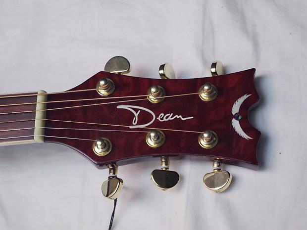 Dean Tradition Florentine Quilt Maple Acoustic-Electric ...