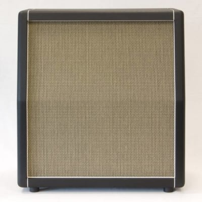 Mojotone Marshall Style SLANT Cabinet, empty, Black + Grey Basket Weave for sale