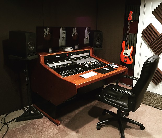 Custom Studio Desk 24 Rack Baltic Birch 2016 Vintage Orange