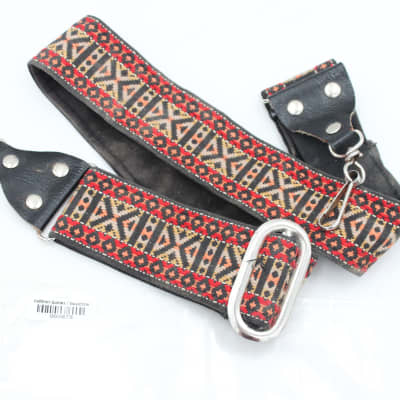 Vintage Ace-Style Unknown Hippie Banjo / Guitar Strap - clip hook style for sale